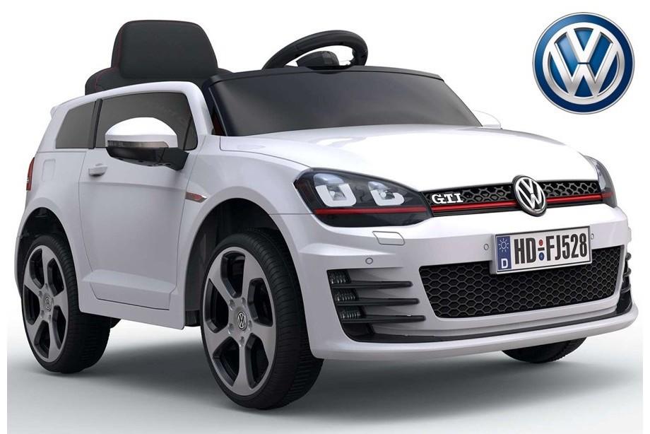 ChuChu VW Golf GTI, otevírací dveře, podsvícené disky, 12V, DO, lakovaný bílý