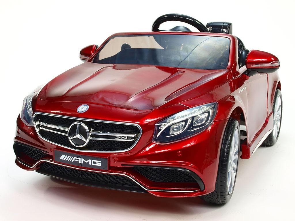 ChuChu Mercedes Benz S63 AMG s DO, originál, pérování, lakovaná vínová metalíza