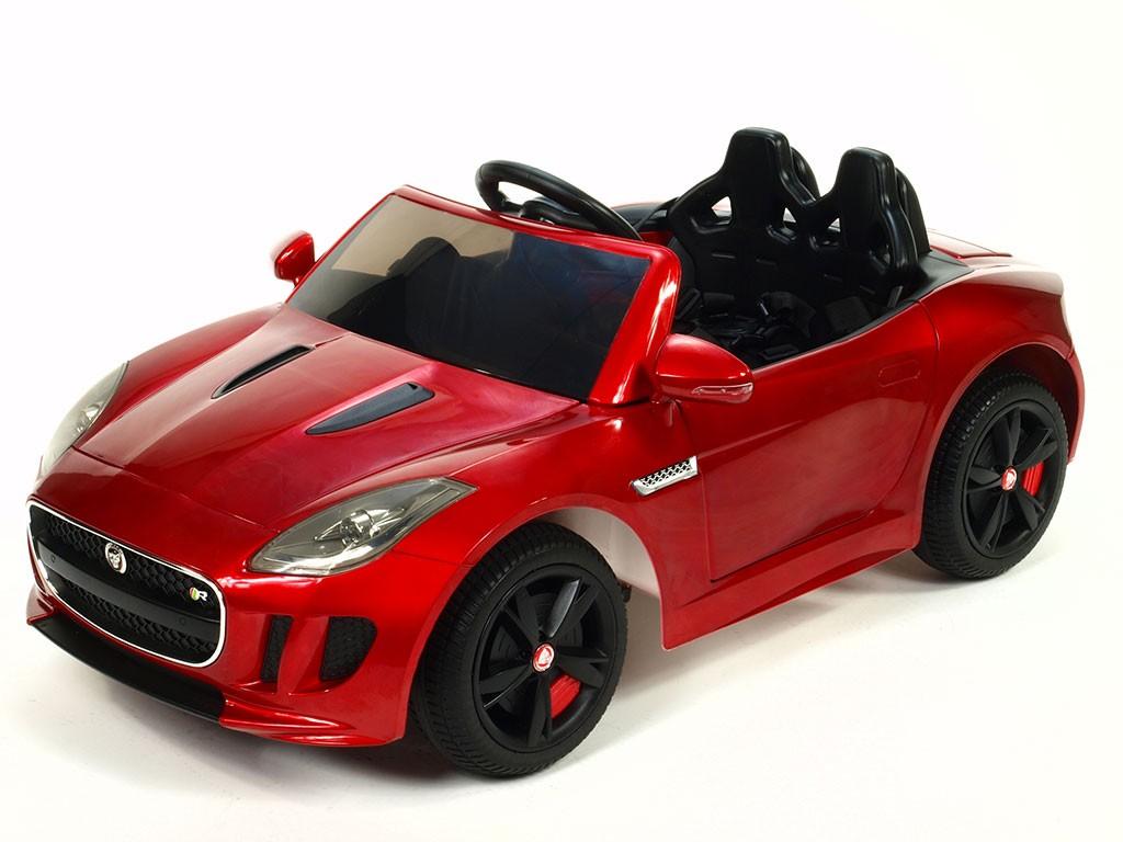 ChuChu Jaguar F-TYPE R s DO, otevírací dveře a kufr, EVA kola, pérování, lakovaná vínová metalíza