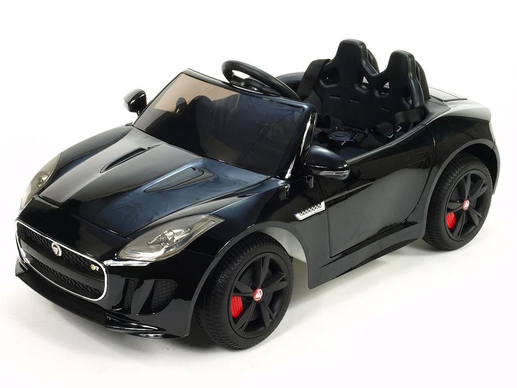 ChuChu Jaguar F-TYPE R s DO, otevírací dveře a kufr, EVA kola, pérování, černý lakovaný