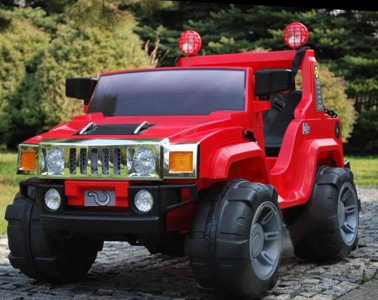 ChuChu Terénní auto pro dvě děti, 2 sedadla a 2 motory, FM rádio, červené