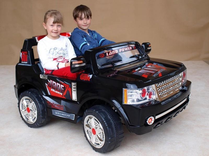 ChuChu Velké terénní auto pro dvě děti s DO, 12V, černé