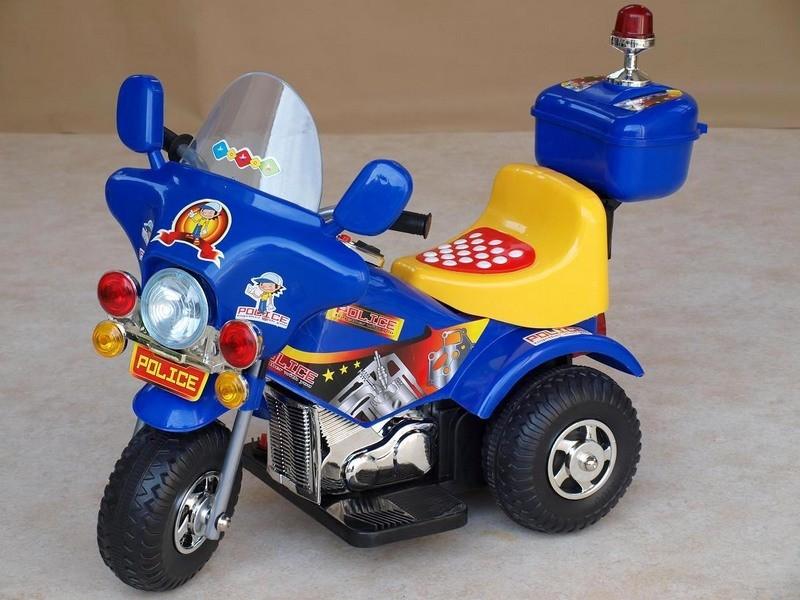 ChuChu Policejní elektrická motorka, modrá