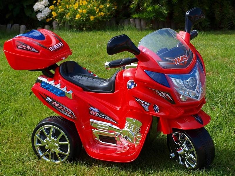 ChuChu Policejní motorka VIPER, střední, červená