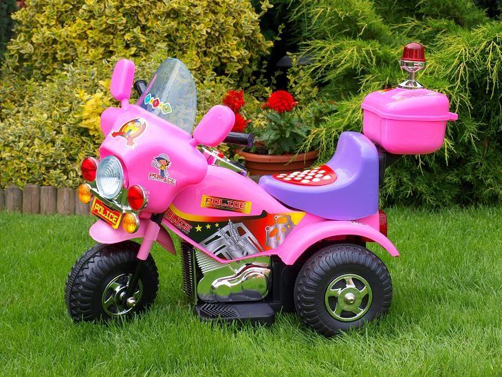 ChuChu Policejní elektrická motorka, růžová
