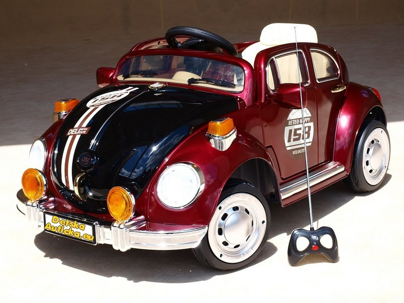 ChuChu Elektrické auto brouk s DO, otevírací dveře a lakovaná metalíza