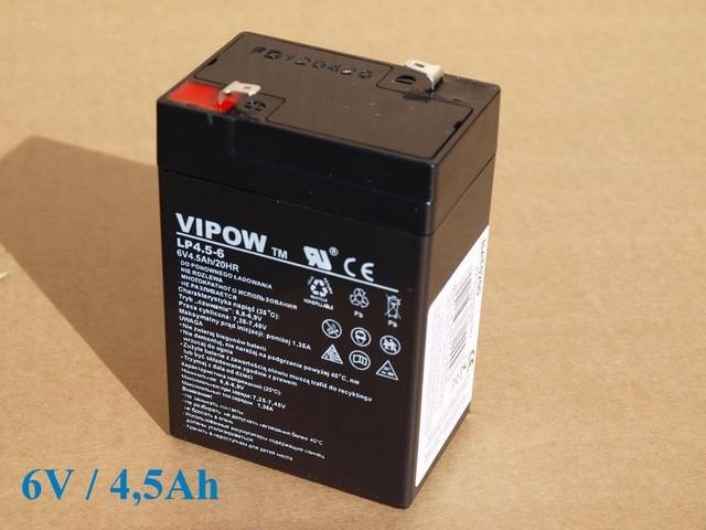Vipow Gelový akumulátor 6V / 4,5 Ah