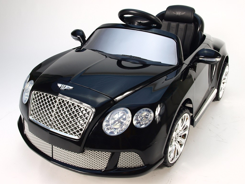ChuChu Bentley Continental GT, černá metalíza, licence a DO, 2 motory 12V
