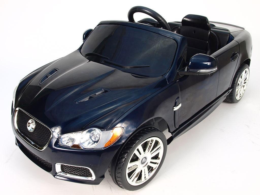 ChuChu Elektrické autíčko Jaguar XFR pro děti, černé, licenční výroba
