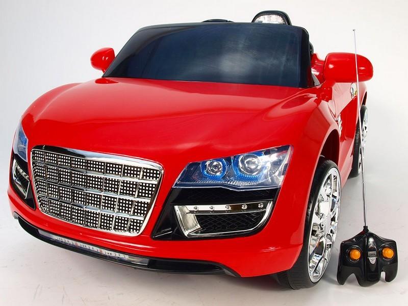 ChuChu Spydercar s DO, otevírací dveře a kufr, pérování náprav, červené