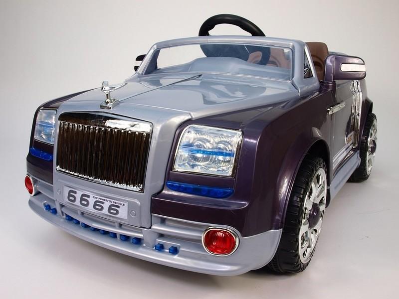 ChuChu Elektrické autíčko Amerika design s DO, 12V, fialové