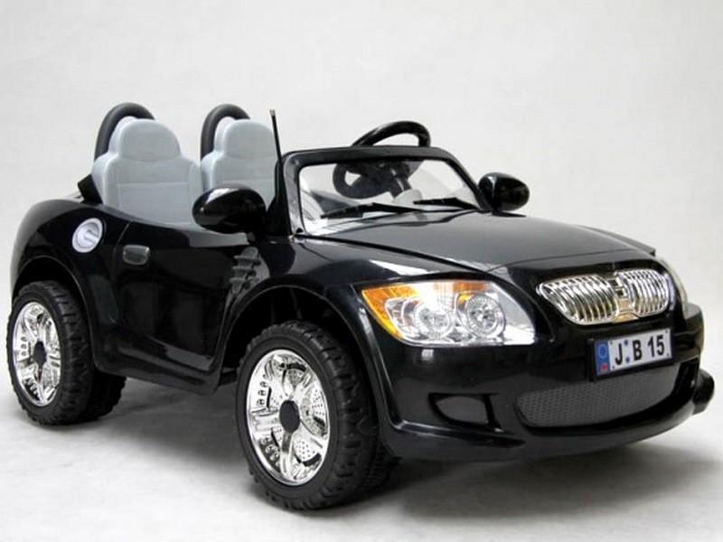 ChuChu Elektrické autíčko dvoumístný sporťák s DO, FM rádio, černé