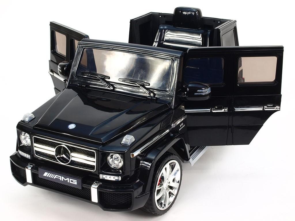 ChuChu Mercedes Benz G63 AMG, originál, otevírací dveře, přehrávač hudby, s DO, černý