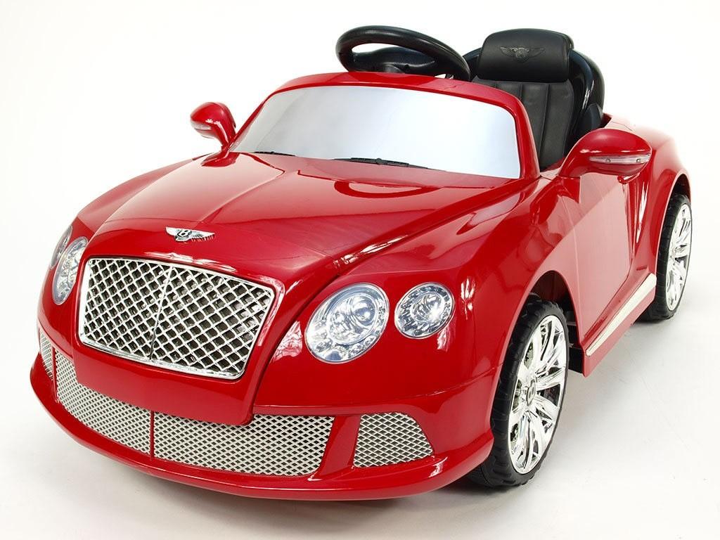 ChuChu Bentley Continental GT, vínová červená, licence a DO, 2 motory 12V