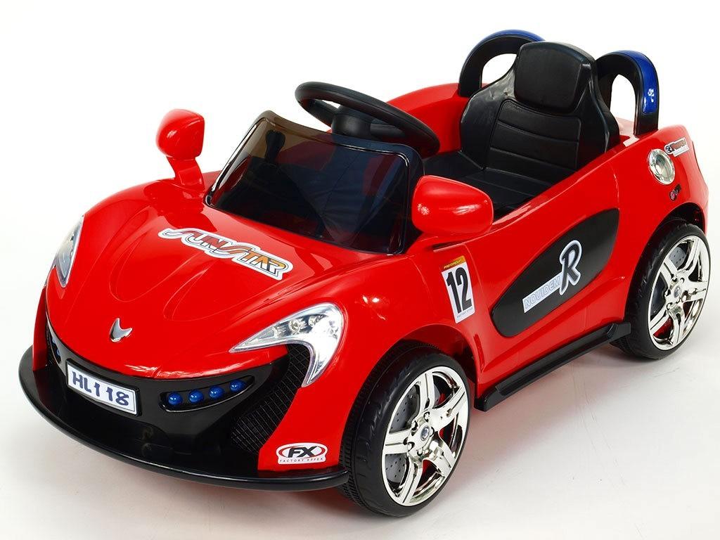 ChuChu Nikeautíčko s DO, pro nejmenší, 2 motory, 6V, červené