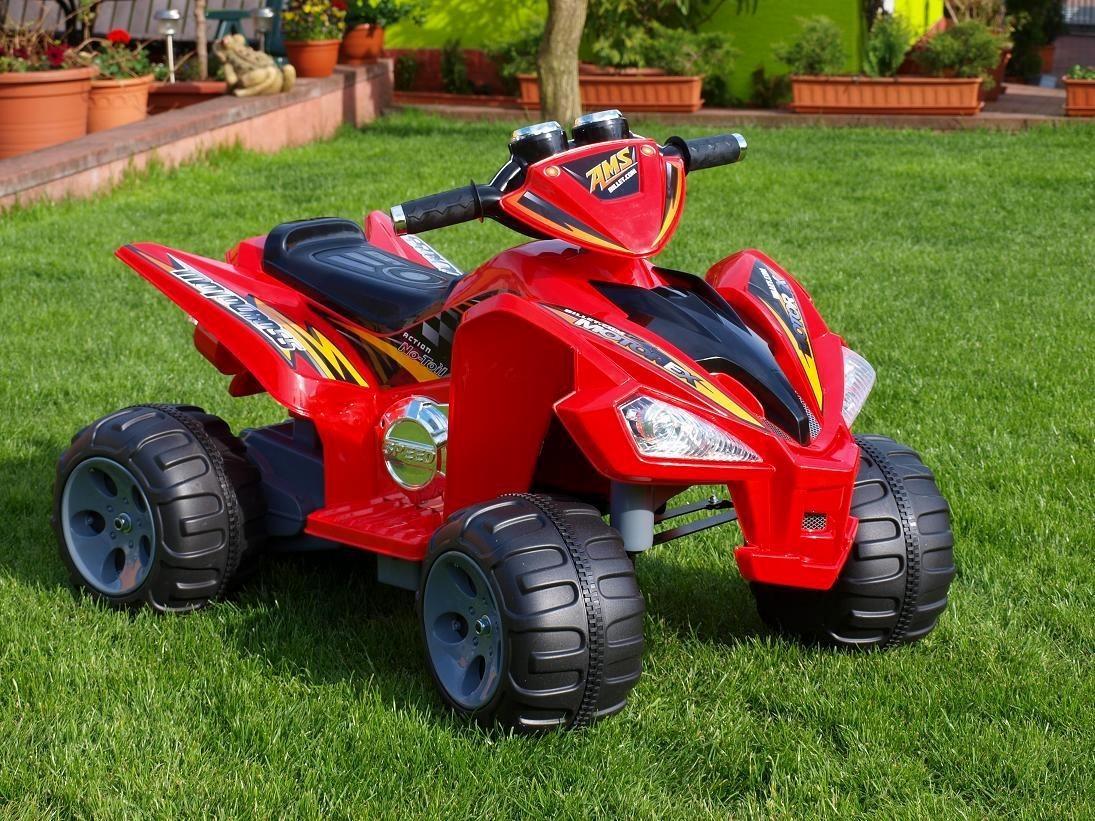 ChuChu Elektrická čtyřkolka Raptor, 2 motory, 12V, červená