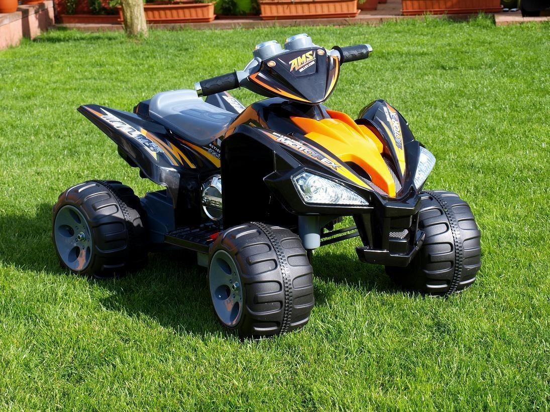 ChuChu Elektrická čtyřkolka Raptor, 2 motory, 12V, černá