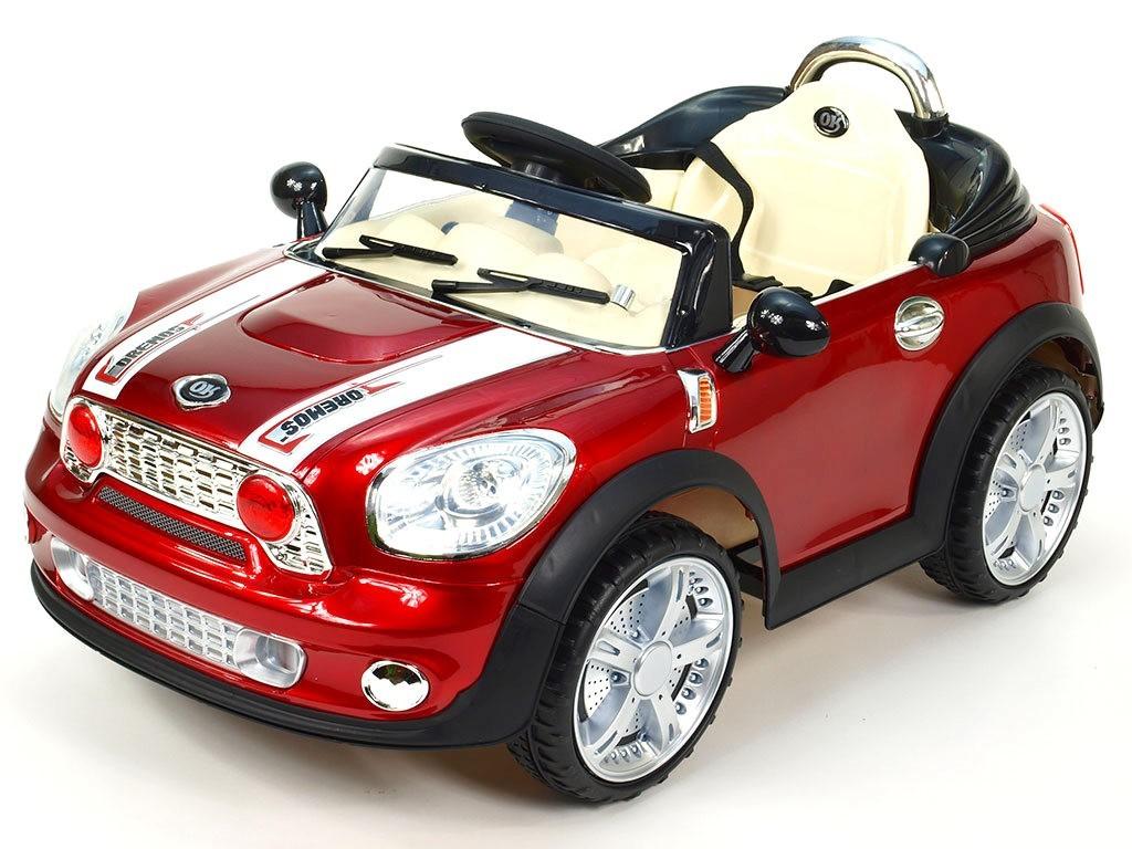 ChuChu Elektrické autíčko Morísek, červená lakovaná metalíza, včetně DO, 12V