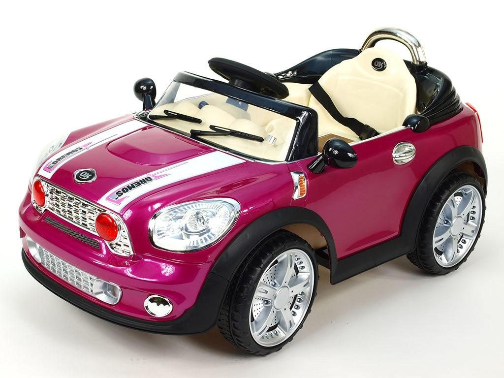 ChuChu Elektrické autíčko Morísek, fialová lakovaná metalíza, včetně DO, 12V