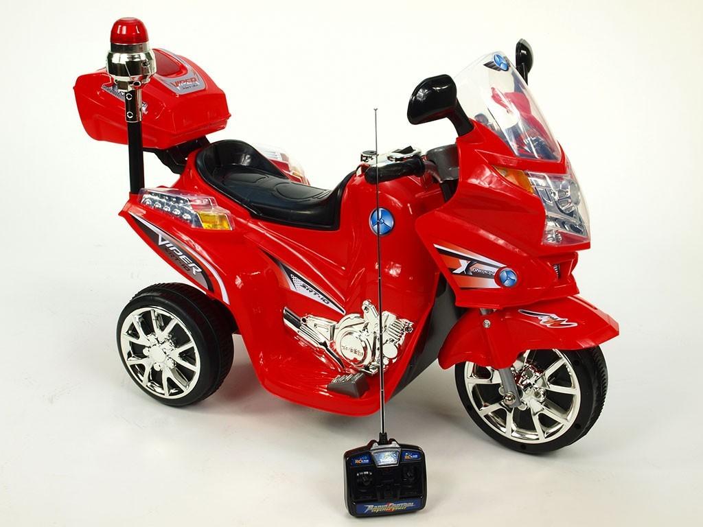 ChuChu Elektrická motorka Viper s majákem a DO, červená