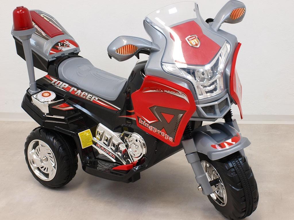 ChuChu Elektrická motorka Kingpropa, LED, MP3, 6V s majákem