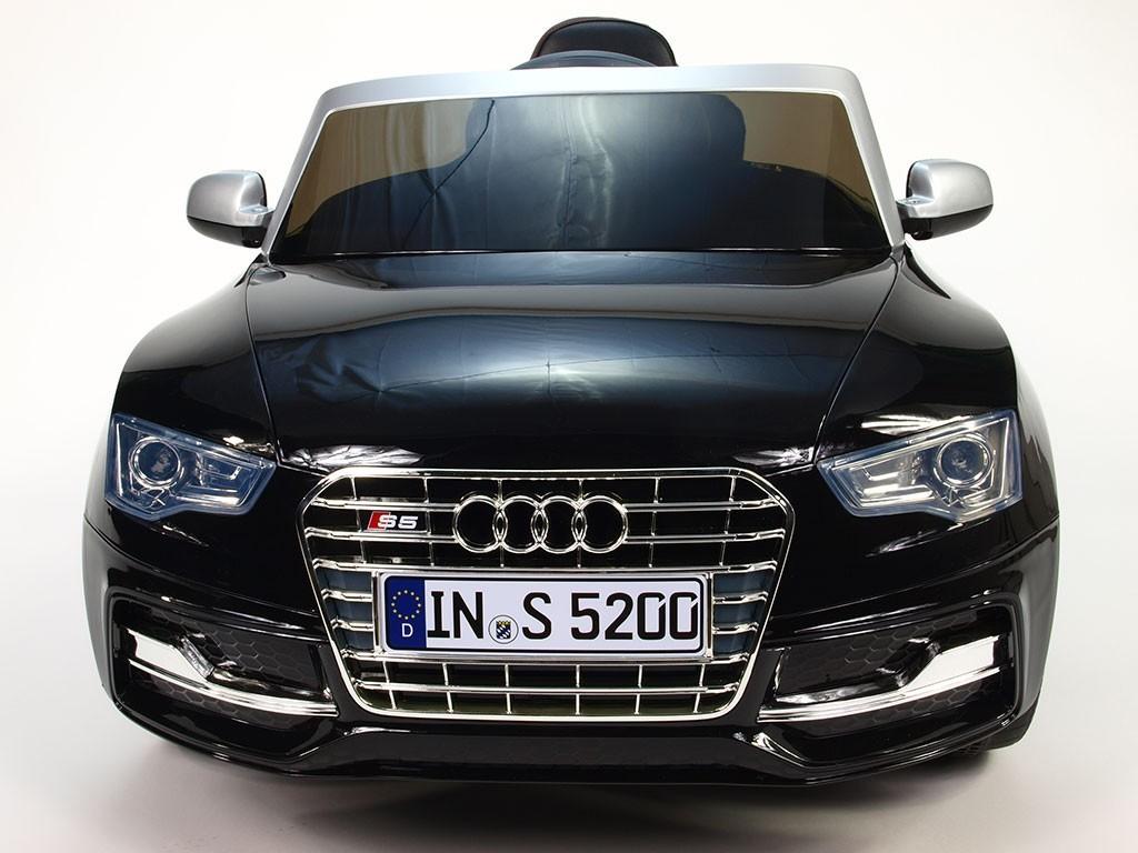 ChuChu Elektrické autíčko Audi S5 s 2,4 Ghz DO, čalouněná sedačka, lakovaná černá metalíza