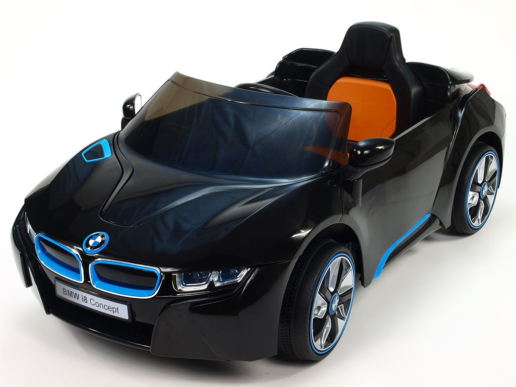 ChuChu Elektrické autíčko BMW i8 Concept pro děti, 2 motory, 12V, černé