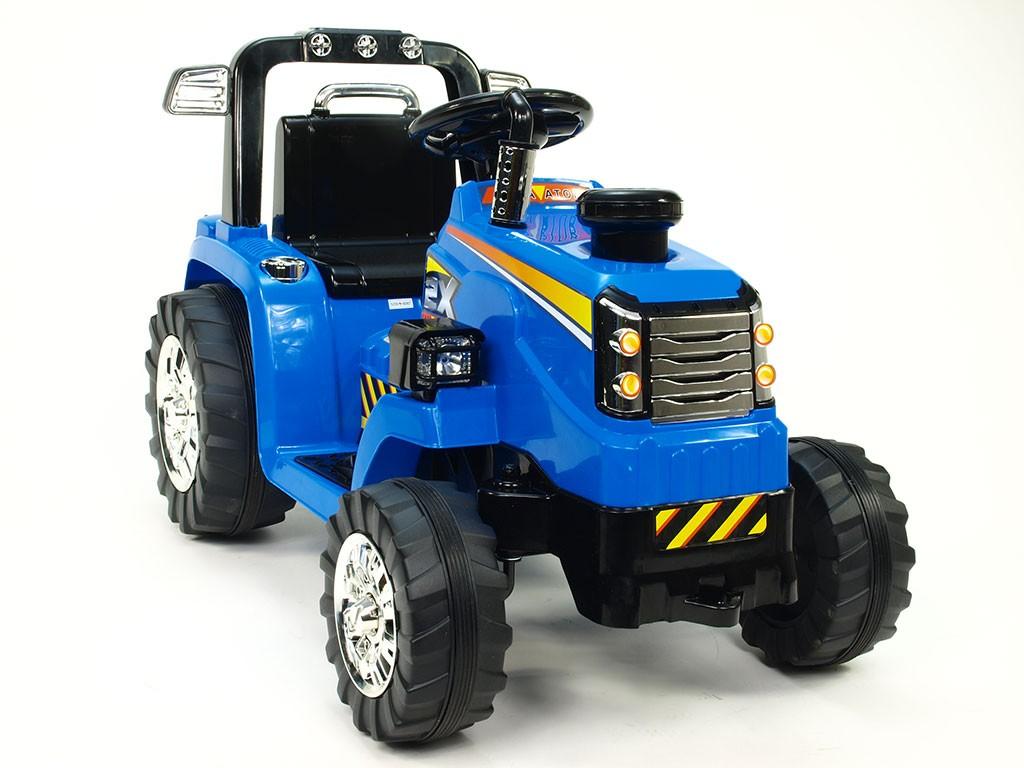 ChuChu Elektrický traktor s mohutnými koly, dva motory, 12V, modrý