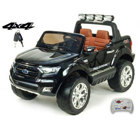 Dvoumístný Ford Ranger Wildtrak 4x4 náhon všech EVA kol, 2,4G DO, bluetooth,FM,USB,TF, otvíracími dveřmi,kapotou,čelem, 2xbaterie, černá metalíza
