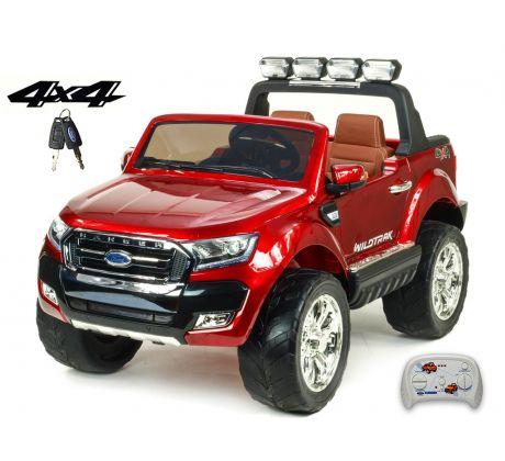 Dvoumístný Ford Ranger Wildtrak 4x4 náhon všech EVA kol, 2,4G DO, bluetooth,FM,USB,TF, otvíracími dveřmi,kapotou,čelem, 2xbaterie, vínová metalíza